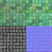 Stock Illustration of Glass tiles seamless generated hires texture (with diffuse, bump and normal m