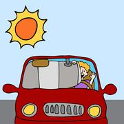 Car sun shade shield Stock Illustration