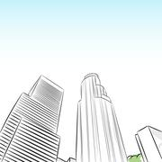 Downtown los angeles financial district Stock Illustration