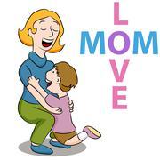 Mom love son Stock Illustration