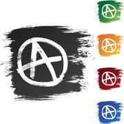 anarchy - stock illustration