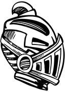 Armored mask Stock Illustration