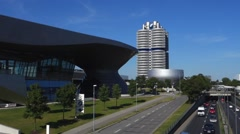 Munich bmw headquarters Stock Footage