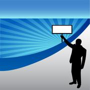 businessman protest - stock illustration