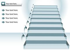 staircase chart - stock illustration