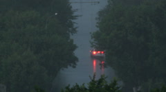 Storm in city Stock Footage