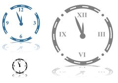 Roman numeral clock Stock Illustration