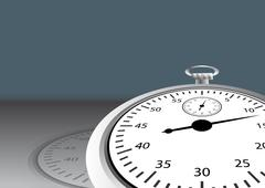 Stock Illustration of angled stopwatch