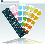 Color guide chart Stock Illustration