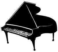 piano - stock illustration