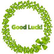 good luck wreath - stock illustration