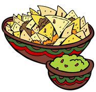 Nachos tortilla chips Stock Illustration