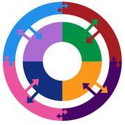 process circle diagram - stock illustration
