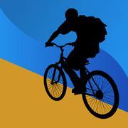 student bicycle rider - stock illustration
