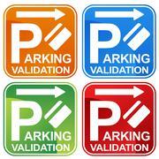 parking validation ticket sign - stock illustration