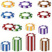 Stock Illustration of poker chip set