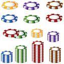 Stock Illustration of poker chip set