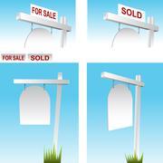 Stock Illustration of real estate sign