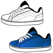 running shoe - stock illustration
