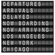 travel station schedule board - stock illustration
