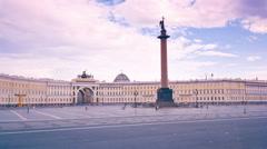 Schlossplatz. St. Petersburg. Russia. timelapse Stock Footage