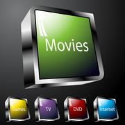 Stock Illustration of entertainment buttons