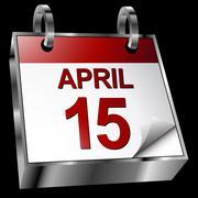 tax deadline calendar - stock illustration