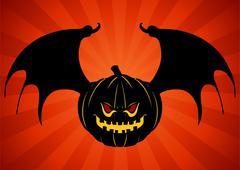 Evil bat pumpkin Piirros