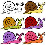 Cute cartoon snail Stock Illustration
