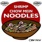 Stock Illustration of shrimp chow mein noodles