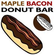 Maple bacon bar Stock Illustration