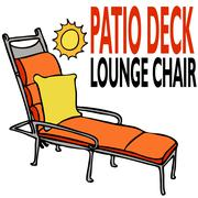Patio deck lounge chair Stock Illustration
