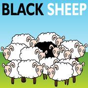 Black sheep Stock Illustration