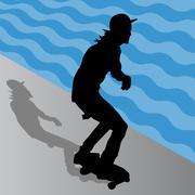 Male skateboarder Stock Illustration