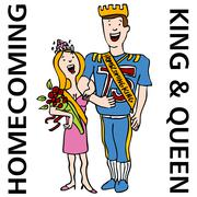 Homecoming king and queen Stock Illustration
