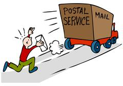 Late urgent mail Stock Illustration