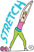 stretching exercises - stock illustration