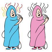 Electric blanket Stock Illustration