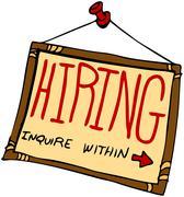 hiring sign - stock illustration