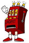 jackpot slot machine - stock illustration