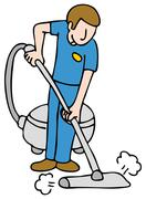 Stock Illustration of professional rug cleaner