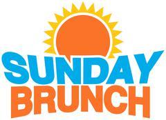 sunday brunch - stock illustration
