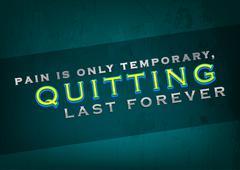 quitting last forever - stock illustration