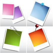 blank instant film sheets - stock illustration