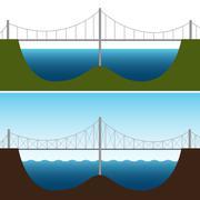 Bridging the gap Stock Illustration