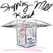 Shopping mall kiosk Stock Illustration