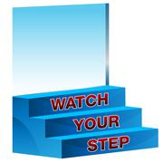 Stock Illustration of watch your step icon