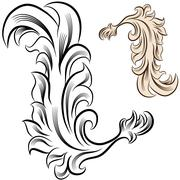 Flourish design element Stock Illustration