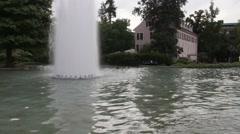 Fountain on Augusta square (Augusta platz). Baden-Baden. Germany Stock Footage
