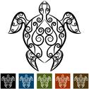 Stock Illustration of turtle swirl